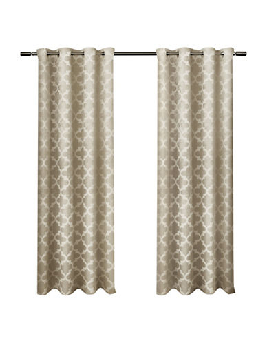 Home Outfitters Cartago Large Window Curtain-TAUPE-96 inches