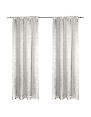 Home Outfitters Embossed Satin Small Window Curtain-WINTER-84 inches