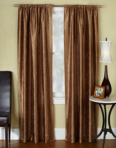 Home Outfitters Saturn Two-Pack Window Curtains-CAPPUCINO-96 inches