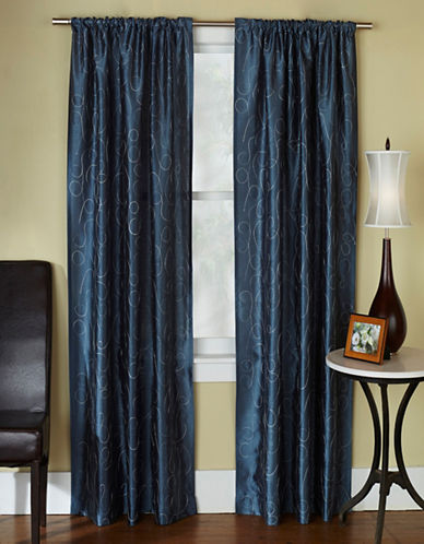Home Outfitters Saturn Two-Pack Window Curtains-BLUE-84 inches