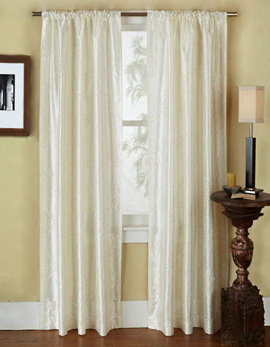 Home Outfitters Como Two-Pack Window Curtains-NATURAL-84 inches