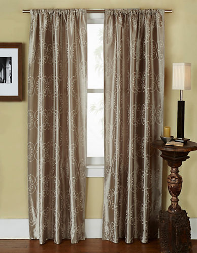 Home Outfitters Como Two-Pack Window Curtains-GREY-96 inches