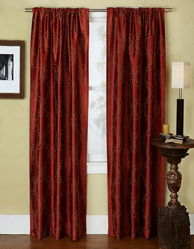 Home Outfitters Como Two-Pack Window Curtains-ORANGE-84 inches