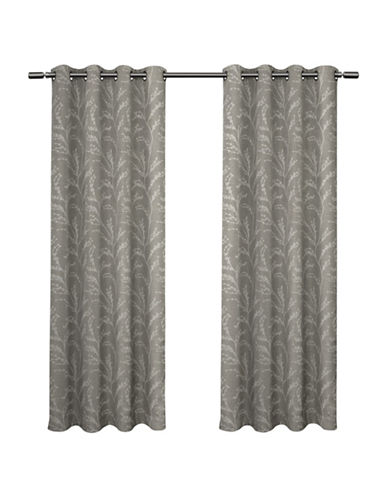 Home Outfitters Kilberry 108-Inch Curtain Panel-ASH GREY-108 inches