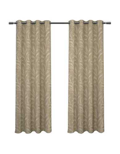 Home Outfitters Kilberry 108-Inch Curtain Panel-NATURAL-108 inches