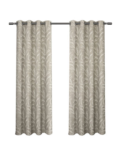 Home Outfitters Kilberry 108-Inch Curtain Panel-DOVE GREY-84 inches