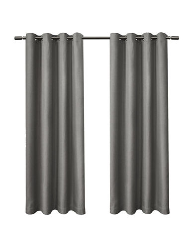 Home Outfitters Eglinton Large Window Curtain-BLACK PEARL-84 inches