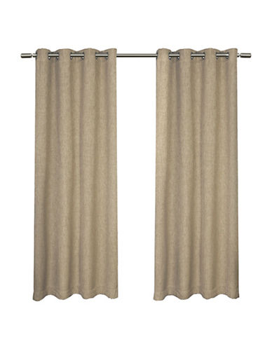 Home Outfitters Set of Two Vesta Curtain Panels-NATURAL-84 inches