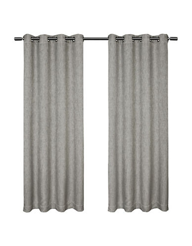 Home Outfitters Set of Two Vesta Curtain Panels-BLACK PEARL-108 inches