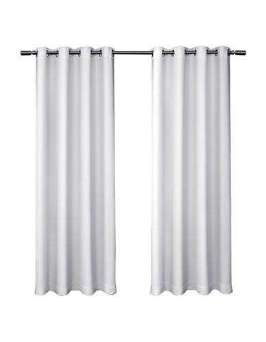Home Outfitters set of Two Blackout Curtain Panels-WHITE-84 inches
