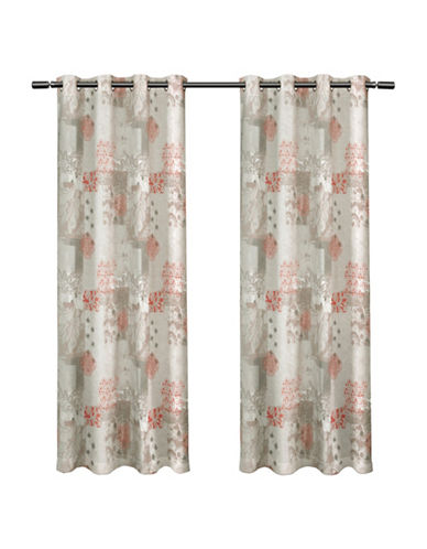 Home Outfitters Set of Two Patchwork Curtain Panels-SPICE-84 inches