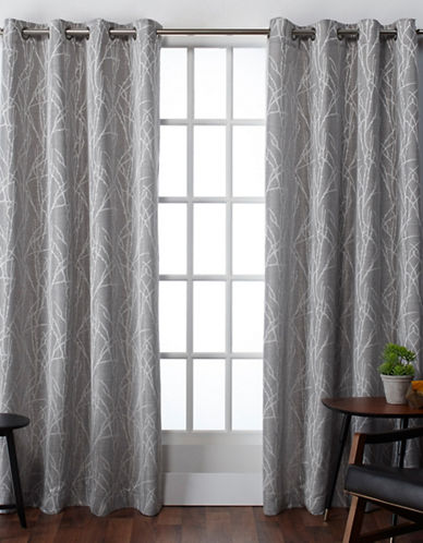 Home Outfitters Finesse Large Window Curtain-ASH GREY-108 inches