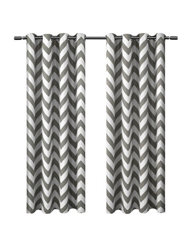 Home Outfitters Mars 52 x 84-Inch Curtain Panel-BLACK PEARL-84 inches