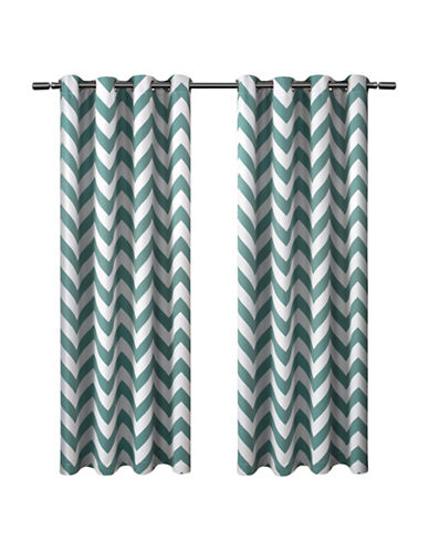 Home Outfitters Mars 52 x 84-Inch Curtain Panel-TEAL-84 inches