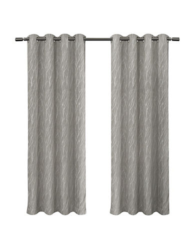 Home Outfitters Forest Hill Blackout Panel Pair-DOVE GREY-96 inches
