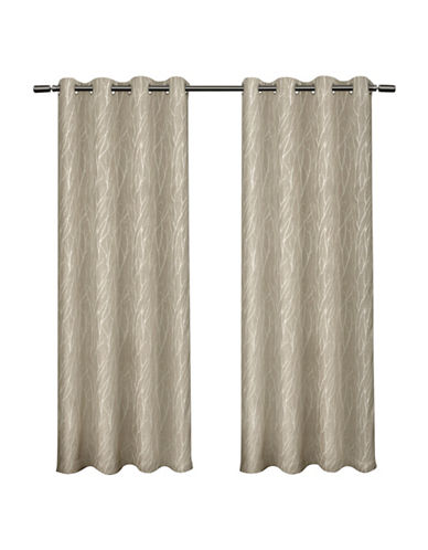 Home Outfitters Forest Hill Blackout Panel Pair-NATURAL-84 inches