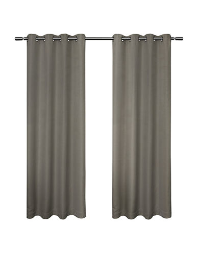 Home Outfitters Melrose 84-Inch Curtain Panel-BLACK PEARL-96 inches