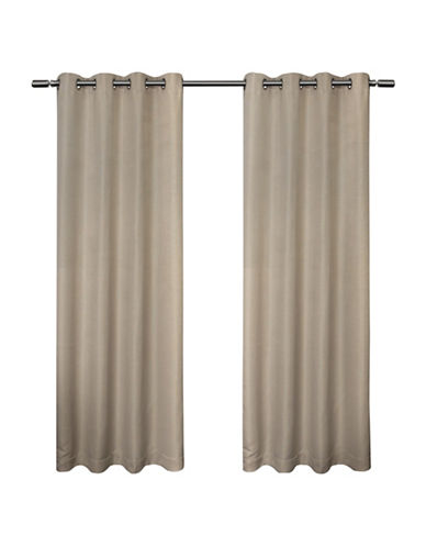 Home Outfitters Melrose 84-Inch Curtain Panel-LINEN-96 inches