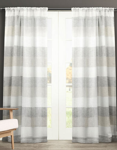 Home Outfitters Bern Rod Pocket Window Curtain Panel Pair-ASH GREY-96 inches