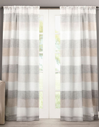 Home Outfitters Bern Rod Pocket Window Curtain Panel Pair-NATURAL-108 inches