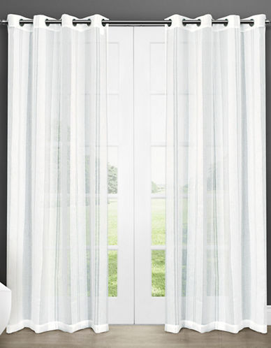 Home Outfitters Apollo Large Sheer Window Curtains-WHITE-108 inches