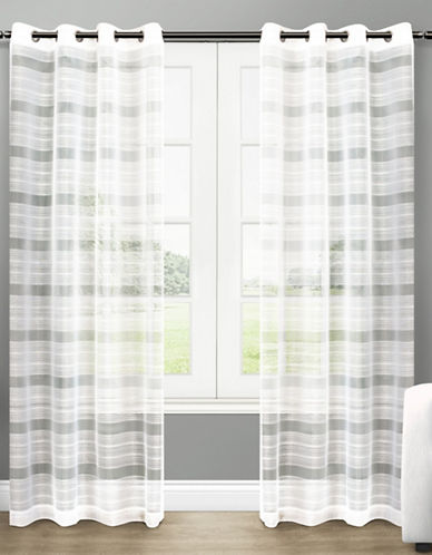 Home Outfitters Michel 108-Inch Curtain Panel-WHITE-108 inches