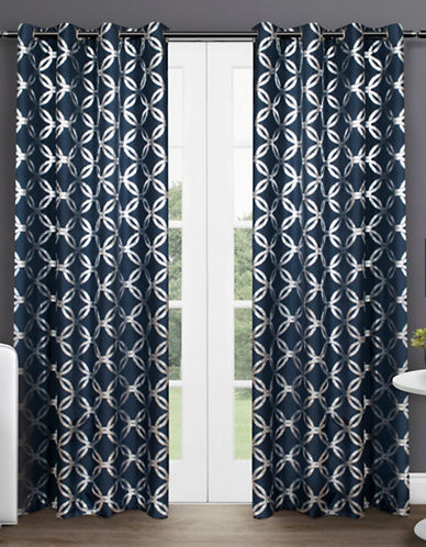 Home Outfitters Modo 96-Inch Curtain Panel-INDIGO-96 inches