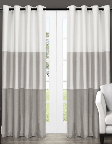 Home Outfitters Chateau Large Window Curtain-DOVE GREY-108 inches
