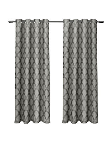 Home Outfitters Electra Large Window Curtain-BLACK PEARL-96 inches
