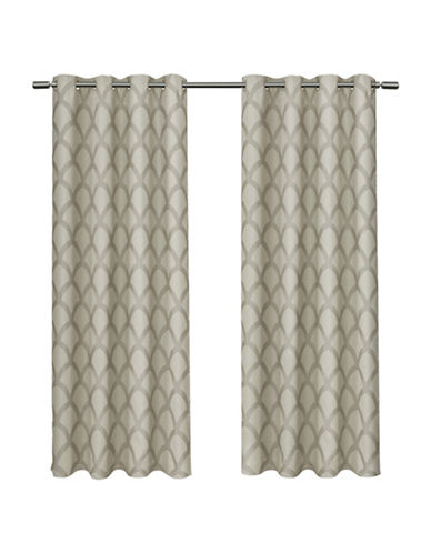Home Outfitters Electra Large Window Curtain-TAUPE-96 inches