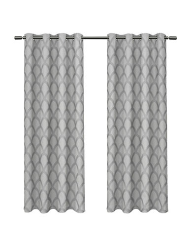 Home Outfitters Electra Large Window Curtain-STEEL BLUE-108 inches