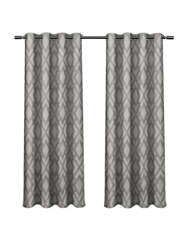 Home Outfitters Easton Large Window Curtain-BLACK PEARL-96 inches