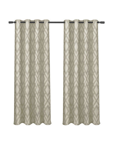 Home Outfitters Easton Large Window Curtain-TAUPE-84 inches