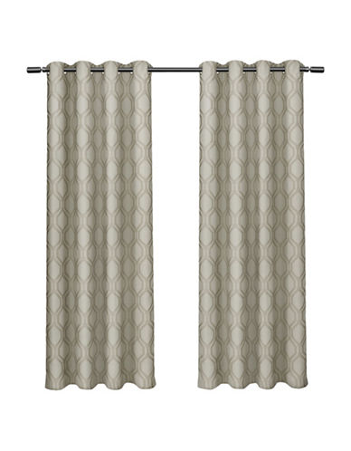 Home Outfitters Domino Large Window Curtain-TAUPE-108 inches
