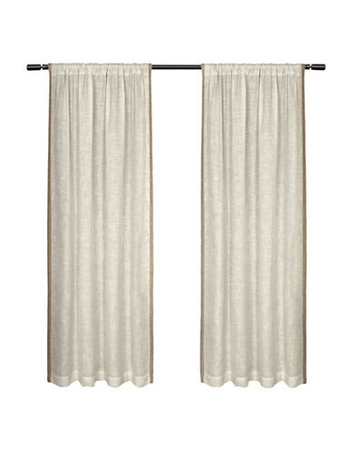 Home Outfitters Baja Small Window Curtain-NATURAL-96 inches