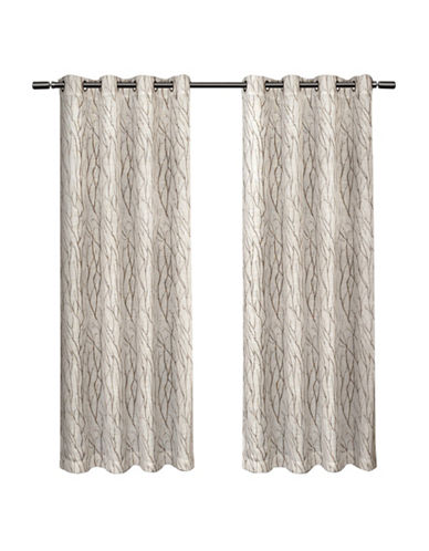Home Outfitters Set of Two Oakdale Curtain Panels-TAUPE-84 inches