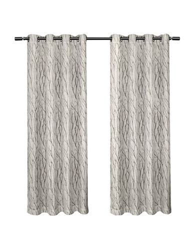 Home Outfitters Set of Two Oakdale Curtain Panels-DOVE GREY-84 inches