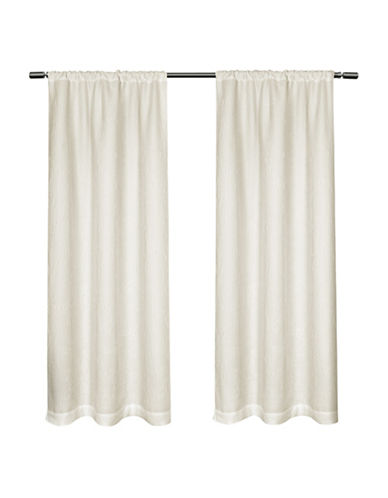 Home Outfitters Matlisse 84-Inch Curtain Panel-WHITE-96 inches