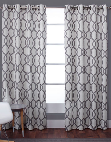 Home Outfitters Kochi 108-Inch Curtain Panel-DOVE GREY-108 inches