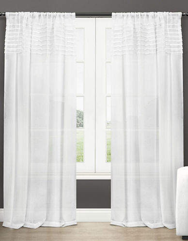 Home Outfitters Barcelona Large Window Curtain-WHITE-108 inches