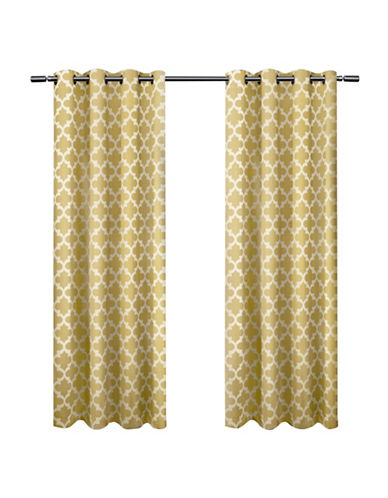 Home Outfitters Set of Two Neptune Curtain Panels-SUNDRESS YELLOW-108 inches