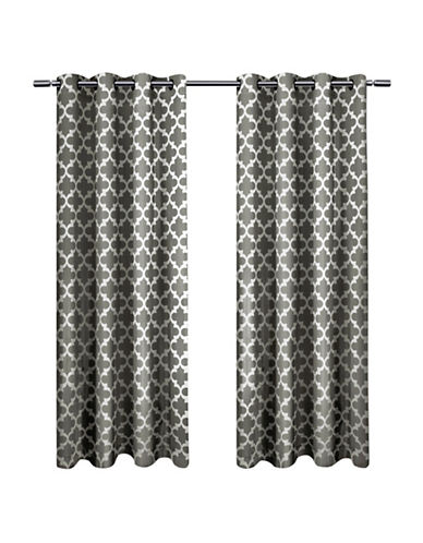 Home Outfitters Set of Two Neptune Curtain Panels-BLACK PEARL-108 inches