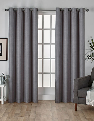 Home Outfitters Thermal Room Darkening Curtain Panel Pair-BLACK PEARL-84 inches