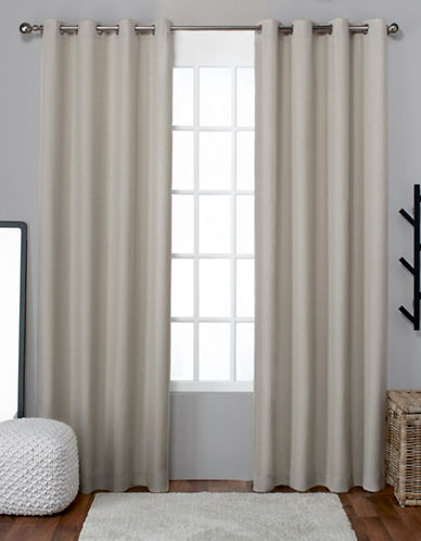 Home Outfitters Loha Linen Panel Pair-NATURAL-63 inches