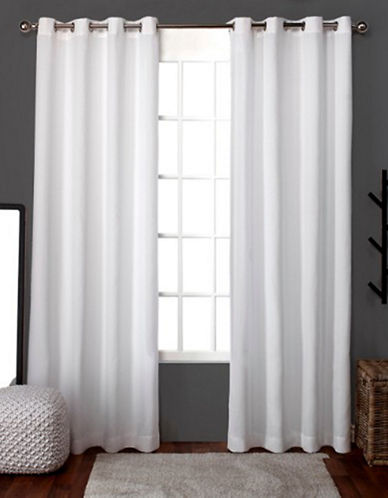Home Outfitters Loha Linen Panel Pair-WINTER WHITE-108 inches