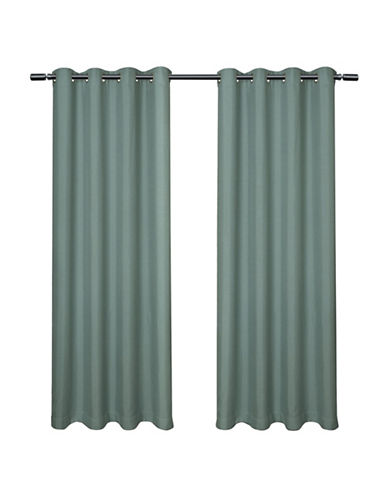 Home Outfitters Loha Linen Panel Pair-TEAL-108 inches