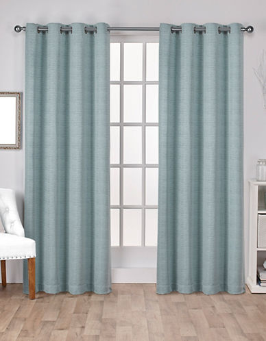 Home Outfitters Set of Two Virenze Curtain Panels-MARINE-84 inches