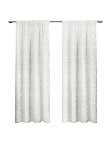 Home Outfitters Damask Large Window Curtain-WINTER WHITE-96 inches