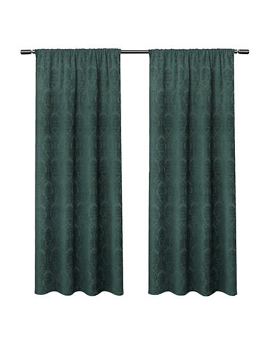 Home Outfitters Damask Large Window Curtain-TEAL-84 inches