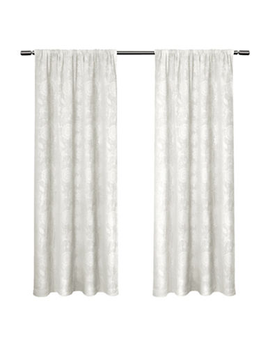 Home Outfitters Elle Large Window Curtain-WINTER WHITE-96 inches